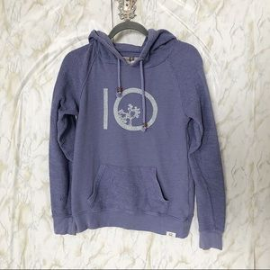 Tentree small purple hoodie pullover sweater 10